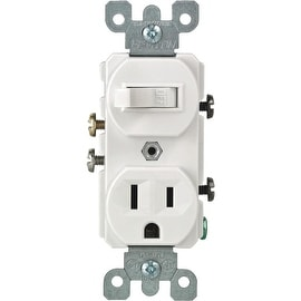 Leviton 15A Wh Tamp Swtch/Outlet