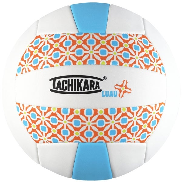 Tachikara SofTec LUAU Volleyball, Turquoise and White