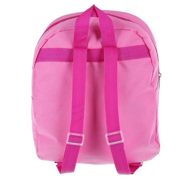 "Disney Minnie Mouse School Backpack 12/"" Medium Bag Pink Polka Dots with Ear"
