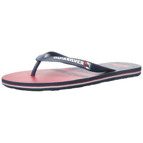 Quiksilver NEW Blue Red Molokai Stomp Sandals Men's Shoes Size 8 Flip-Flops 448