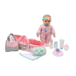 Dream Collection 16 Inch Baby Doll Basket Set