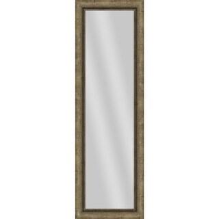 "PTM Images 5-13695 53"" x 17"" Rectangular Unbeveled Framed Wall Mirror - Champagne"