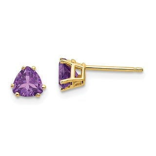 Link to 14K Yellow Gold 5mm Trillion Amethyst Earrings by Versil Similar Items in Earrings