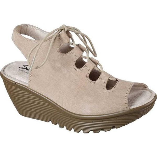 594aeefcec59 Shop Skechers Women s Parallel Wedge Sandal Natural - Free Shipping ...