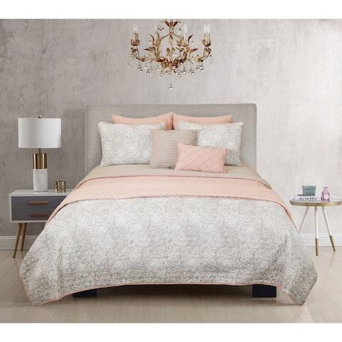 Riverbrook Home Katie 8 Piece 100 Percent Cotton Comforter & Coverlet Set