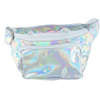 Dickies Iridescent Silver Metallic Fashion Waist Pack - One size