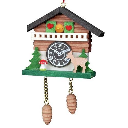 Tree ornaments Tree ornament Cuckoo Clock with Bambi - 6,9 x 5,7cm / 2.7 x 2.2inch - Christian Ulbricht