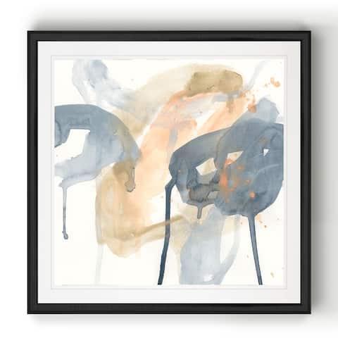 Liquid Blueprint VIII -Black Framed Print