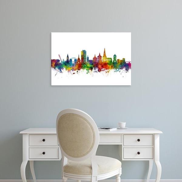 Easy Art Prints Michael Tompsett's 'Rostock Germany Skyline' Premium Canvas Art