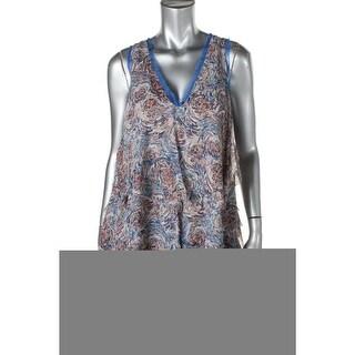 Catherine Malandrino Womens Silk Printed Tunic Top - 4
