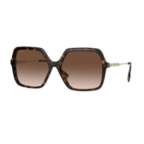 Burberry BE4324 300213 59 Dark Havana Woman Square Sunglasses