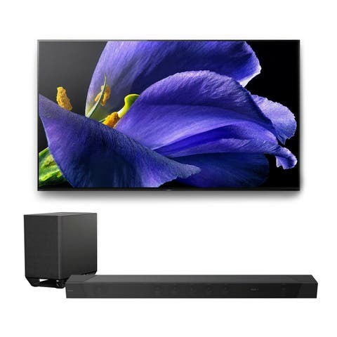 "Sony XBR-65A9G 65"" BRAVIA OLED 4K UHD HDR TV with HT-ST5000 7.1.2ch 800W Dolby Atmos Sound Bar"