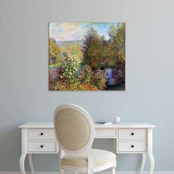 Easy Art Prints Claude Monet's 'Corner of the Garden at Montgeron' Premium Canvas Art