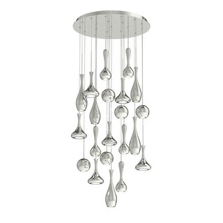 "Modern Forms PD-ACID21R Acid 21 Light 26"" Wide LED Abstract Chandelier with Spun Metal Shades - Grey"