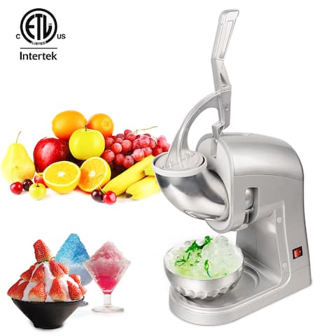 120V 350W Commercial Removable Dual Blades Electric Ice Crusher Silver