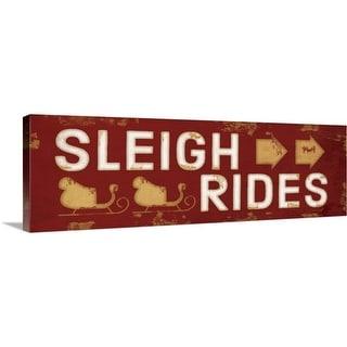 """Sleigh Rides Christmas"" Canvas Wall Art"