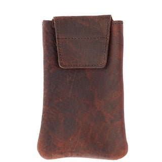 Boston Leather Textured Bison Leather Eyeglass Case - one size