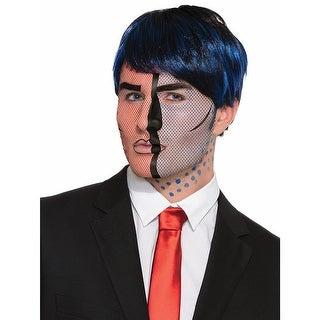 Pop Art Face Tattoo Costume Accessory Adult