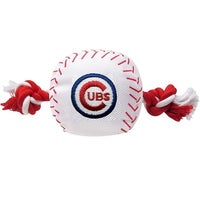e40880823 MLB Chicago Cubs Baseball Rope Toy for Dogs. - Pet Squeaking Sports Toy