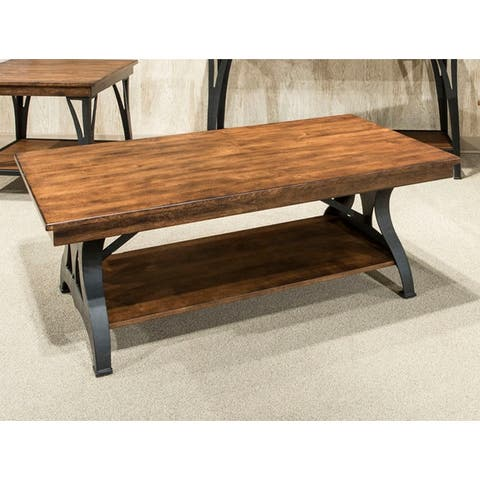 The District Copper Finish Rectangular Coffee Table