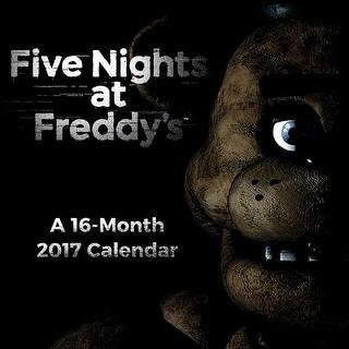 """Five Nights At Freddy's 2017 7""""x7"""" Mini Calendar"""