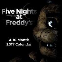 "Five Nights At Freddy's 2017 7""x7"" Mini Calendar - multi"