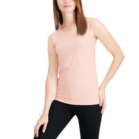 Alfani Women's Sleeveless Layering Tank Top (Pink, L)