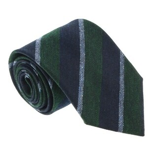 Missoni U5121 Green/Navy Repp 100% Silk Tie - 60-3