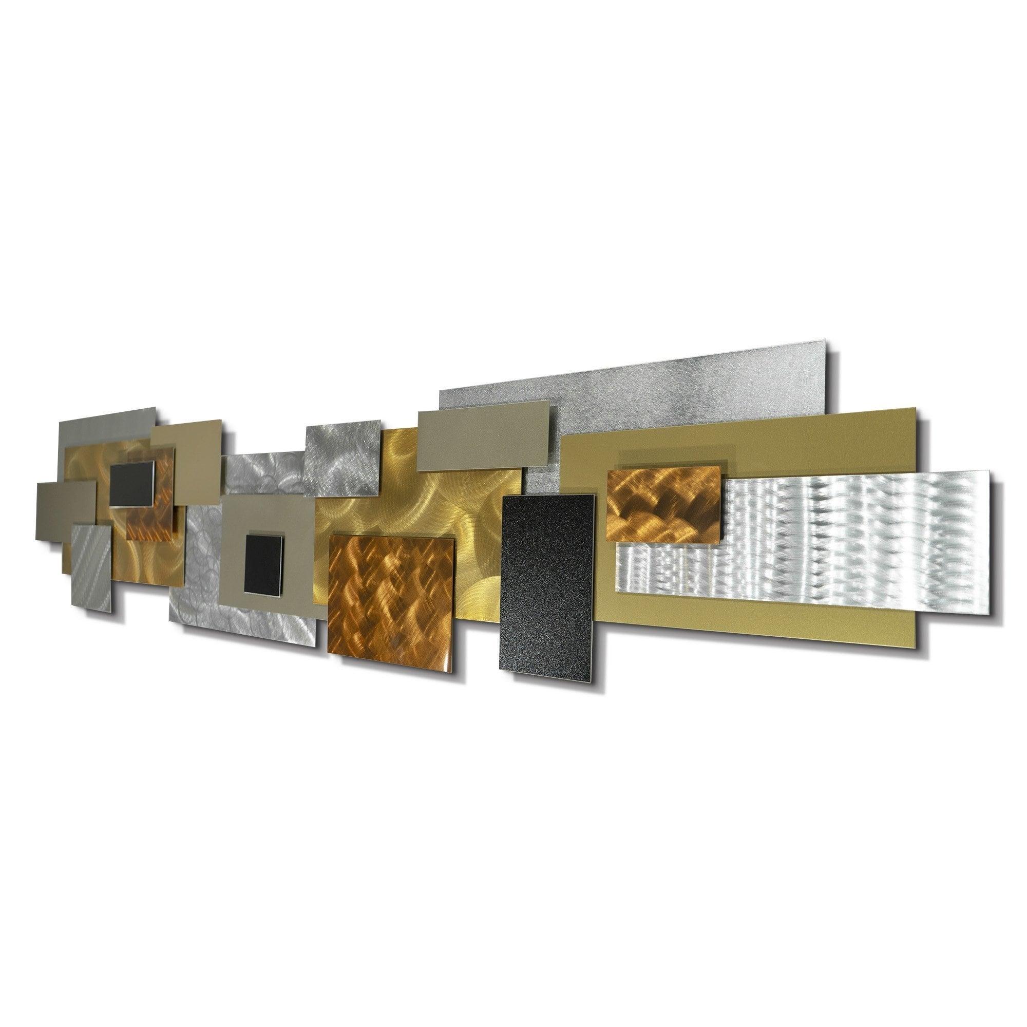 Statements2000 Extra Large Modern 3d Metal Wall Art Hanging Sculpture Jon Allen Copper Impromto Xl Overstock 28545967