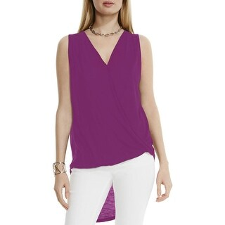 Two by Vince Camuto Womens Tank Top Surplice Hi-Low