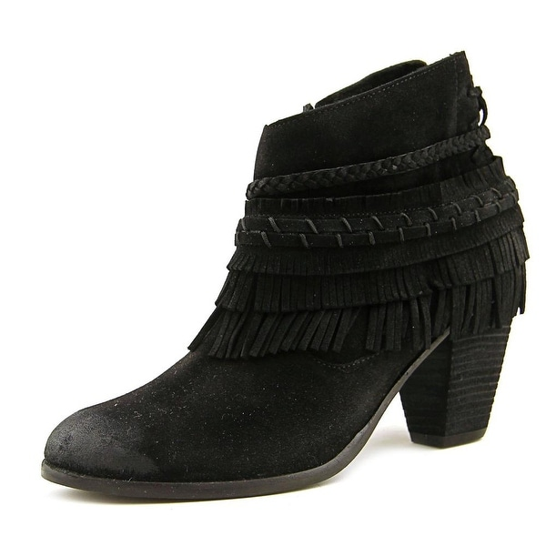Naughty Monkey In Lyne Women Round Toe Suede Black Ankle Boot