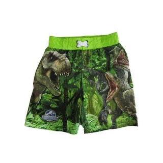 Jurassic World Little Boys Green Swim Shorts