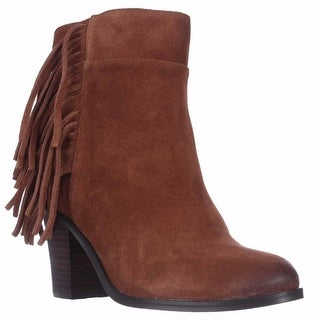 Kenneth Cole Alana Fringe Ankle Boots - Rust