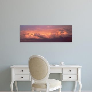 Easy Art Prints Panoramic Images's 'Sunset Clouds IL USA' Premium Canvas Art