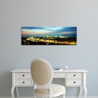 Easy Art Prints Panoramic Images's 'The Duomo & Arno River Florence Italy' Premium Canvas Art
