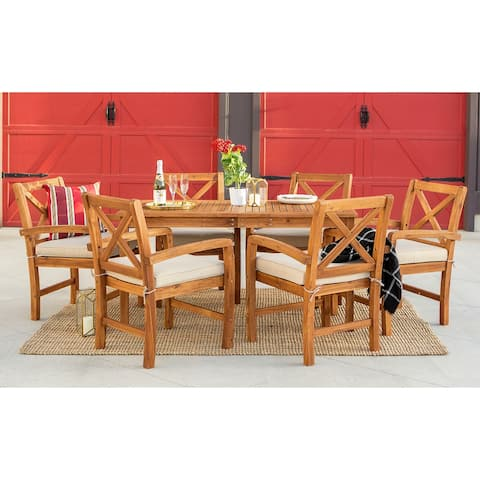 Surfside 7-piece Acacia Outdoor Dining Set by Havenside Home