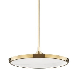 Link to Hudson Valley Draper Large LED Pendant with Alabaster Shade Similar Items in Pendant Lights