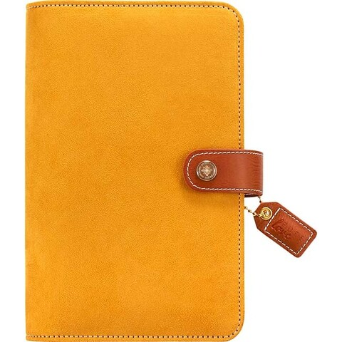 """Mustard Suede - Color Crush Faux Leather Personal Planner Binder 5.25""""X8"""""""