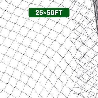 Costway Anti Bird Netting 25'X50' Soccer Baseball Game Poultry Fish Net 2''x2'' Mesh