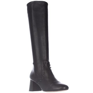 Coach Britney Studded Knee High Fashion Boots - Black