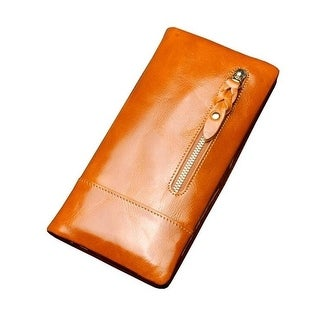 Women's Durable Bifold Purse Leather Large Capacity Clutch Wallet