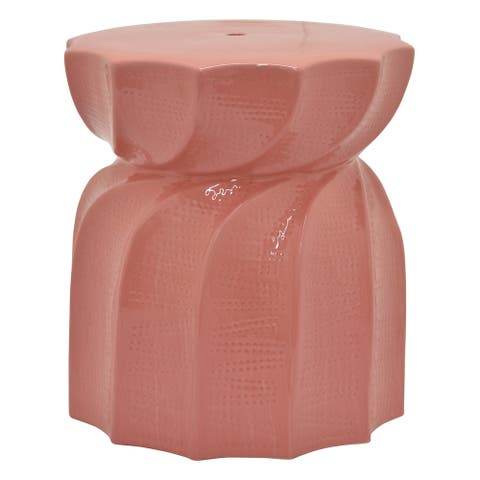 Plutus Brands Plant Stand in Pink Porcelain