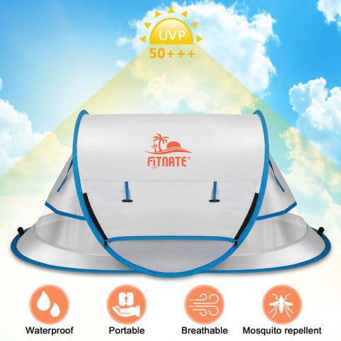 Portable Waterproof Baby Travel Tent Bed Baby UV Sun Shelters Pop Up Beach Tent - M