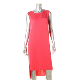 DKNY Womens Silk Inset Hi-Low Cocktail Dress - M