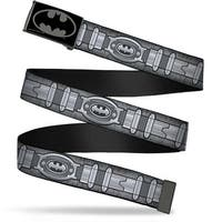 Batman Reverse Brushed Black Silver Black Bo Black Batman Utility Belt Web Belt