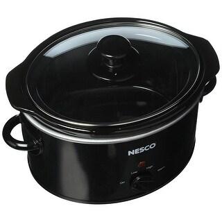 Nesco SC-150-13 Oval Slow Cooker, 1.5-Quart, Black
