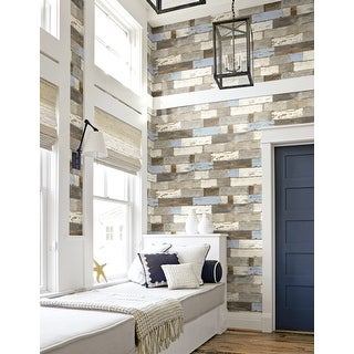 Link to NextWall Colorful Shiplap Peel and Stick Removable Wallpaper - 20.5 in. W x 18 ft. L Similar Items in Wall Coverings