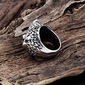 Vienna Jewelry Canadian Owl's Stainless Steel Ring - Thumbnail 1