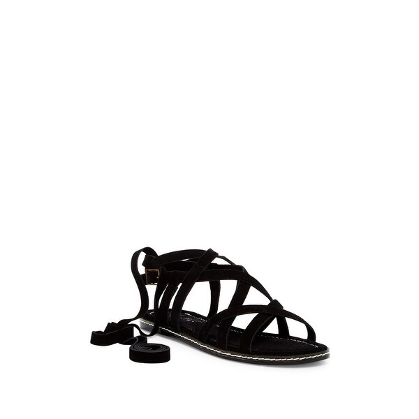 Bettye NEW Black Women's Shoes Size 7M Flip Wraparound Tie Sandal