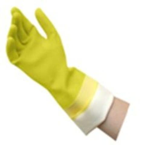 Quickie 12142 Yellow Latex Gloves, Large